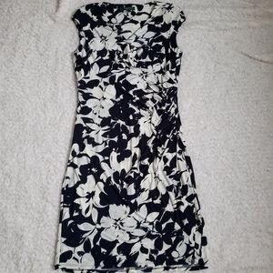 Lauren Ralph Lauren Navy Blue Floral Faux